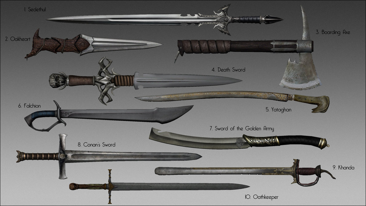 Melee Weapon Inspirations (Creative Project Research ...